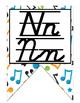 Rock Star (Rock-N-Roll) themed D'Nealian manuscript and cu