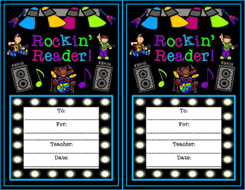 Rock Star Rock-n-Roll Themed Rockin' Reader Awards