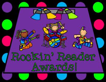 Rock Star Rock-n-Roll Themed Rockin' Reader Awards