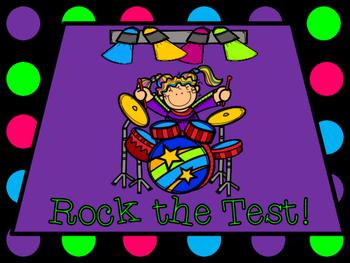"Rock Star ""Rock the Test!"" Testing Motivation Bulletin Board Display Letters"