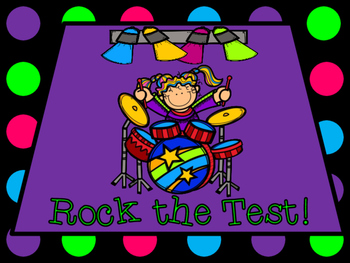 "Rock Star ""Rock the Test!"" Testing Motivation Bulletin Boa"