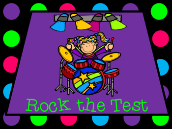 """Rock Star """"Rock the Test"""" Testing Motivation Posters"""