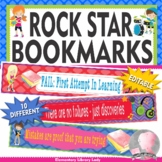 Rock Star Rockstar Growth Mindset Bookmarks/ Shelf Markers/ Name Plates-EDITABLE