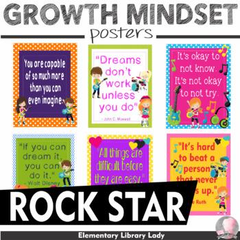 "Rock Star Rockstar Growth Mindset Posters - 8.5""x11"", 18""x24""-Ready for Printing"