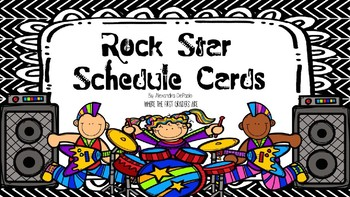 Rock Star Schedule Cards