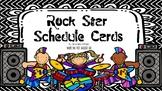 Rock Star Schedule Cards