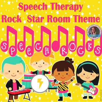 Rock Star Speech Therapy Room Decorations
