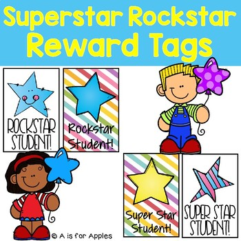 Brag Tags for Rockstar & Super Star Student {Behavior Incentive}