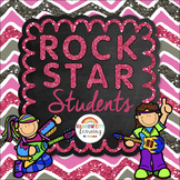 Back to School Rock Star Students Positive Behavior Reward Cards