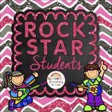 Rock Star Students Positive Behavior Reward Cards