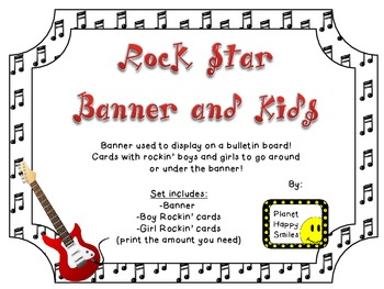 Rock Star Theme ~ Students Banner and Kids