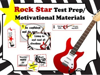 Rock Star Test Prep and Motivational Materials