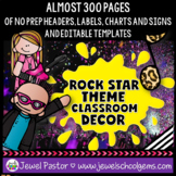 Rock Star Theme Classroom Decor