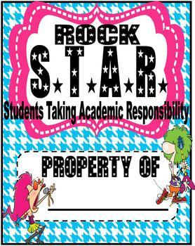 Rock Star Theme Binder Cover