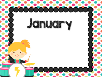 Rock Star Theme Classroom Decor: Birthday Chart