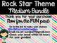Rock Star Theme Classroom Decor: Build Your Own Medium Bundle