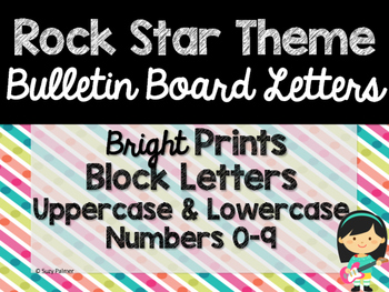 Rock Star Theme Classroom Decor: Bulletin Board Block Letters