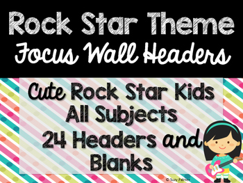 Rock Star Theme Classroom Decor: Focus Wall Headers