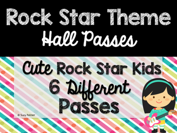 Rock Star Theme Classroom Decor: Hall Passes