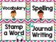 Rock Star Theme Classroom Decor: Literacy Center Labels