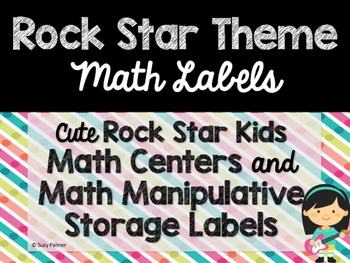 Rock Star Theme Classroom Decor: Math Center Labels