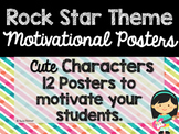 Rock Star Theme Classroom Decor: Motivational Posters