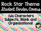 Rock Star Theme Classroom Decor: Student Binder Covers