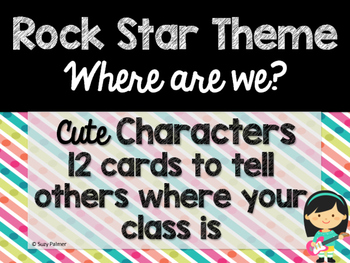 Rock Star Theme Classroom Decor: Where Are We? Sign