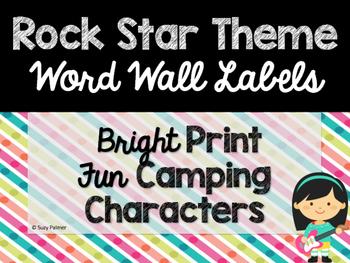 Rock Star Theme Classroom Decor: Word Wall Headers