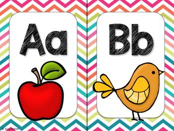Rock Star Theme Classroom Decor: Alphabet Cards