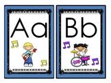 Rock Star Theme (Darker Color Scheme) Large Alphabet Cards