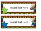Rock Star Theme Editable Name Plates and Book Box Labels