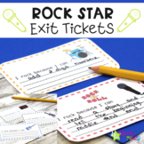 Rock Star Theme Exit Tickets