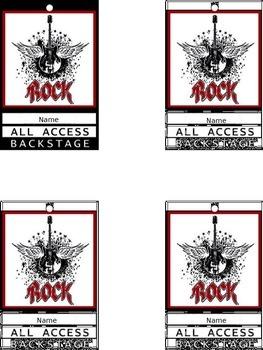 Rock Star Theme- Kindergarten Moving Up Tickets
