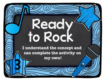 Rock Star Theme Marzano Learning Scale Rubric