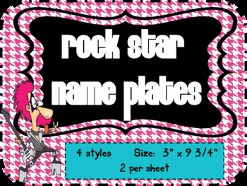 Rock Star Theme Name Plates