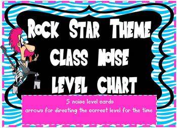 Rock Star Theme Noise Level Charting System