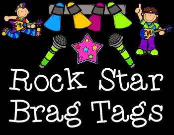 Rock Star Themed Brag Tags
