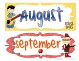 Rock Star Themed Calendar Headings