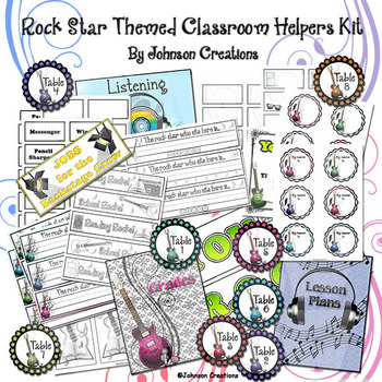 Rock Star Themed Classroom Helpers Kit