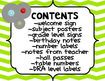 Rock Star Themed Classroom Labels