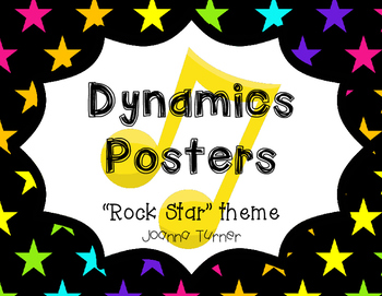 Rock Star Themed Dynamics Posters