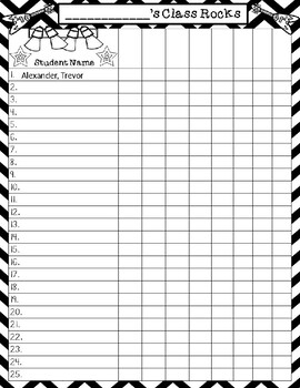 Rock Star Themed  Editable Class Roster Recording Form