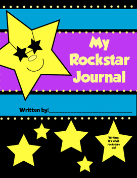 Rock Star Themed Journal for First and Second Grade