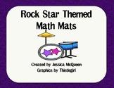 Rock Star Themed Math Mats