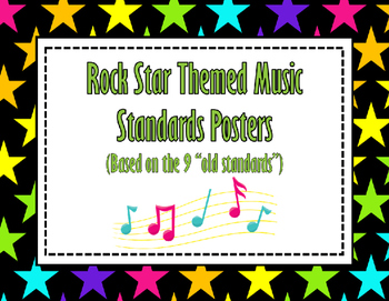 Rock Star Themed Music Standards Posters (old standards)