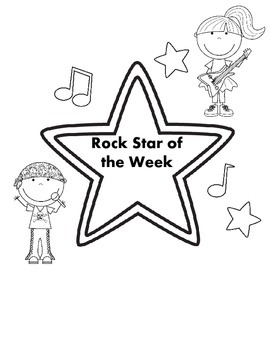 Rock Star Themed Student of the Week Activities