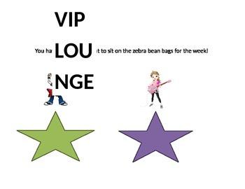 Rock Star VIP Lounge Sign