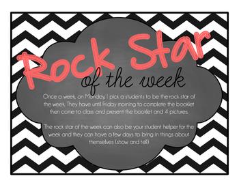 Rock Star of the Week- VIP of the week- Student of the week