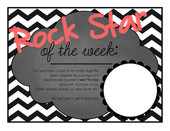 Rock Star of the Week- VIP of the week- Student of the week